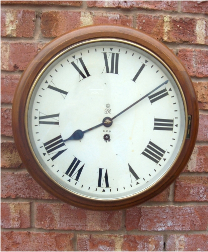 8 Day Fusee Wall Clock -SOLD-