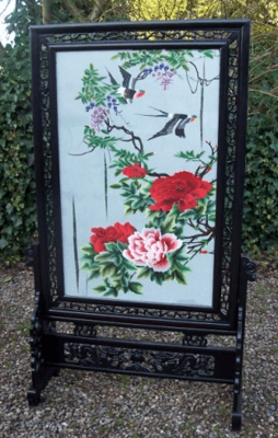 Chinese Silk Screen -SOLD-