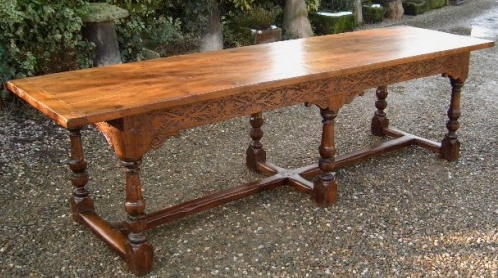 A Superb Ten Seat Yew Wood Refectory Table
