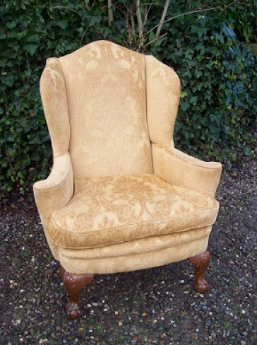 Queen Anne Wing Chair -SOLD-