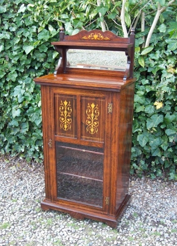 A Rosewood Inlaid Music Cabinet