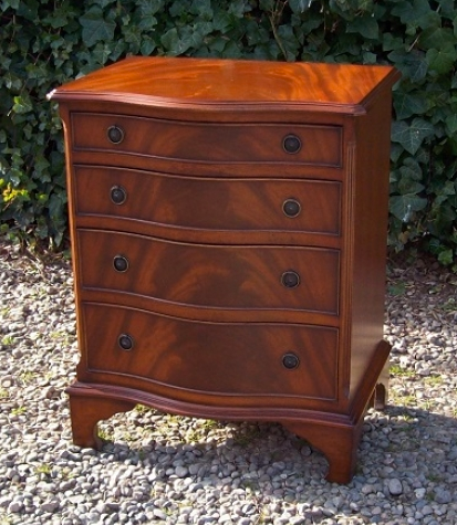 A Mahogany Serpentine Chest of Drawers