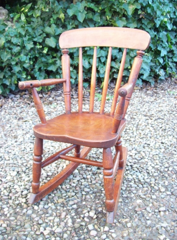 A Child's Windsor Rocking Chair